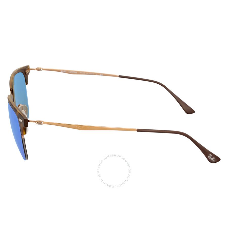 e0516179810 ebay ray ban clubmaster light ray blue mirror sunglasses rb8056 175 55 49  50d83 70c5a