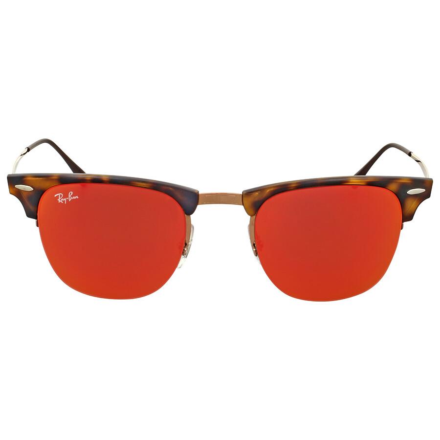 red ray ban sunglasses  Ray-Ban Clubmaster Light Ray Red Mirror Sunglasses - Clubmaster ...
