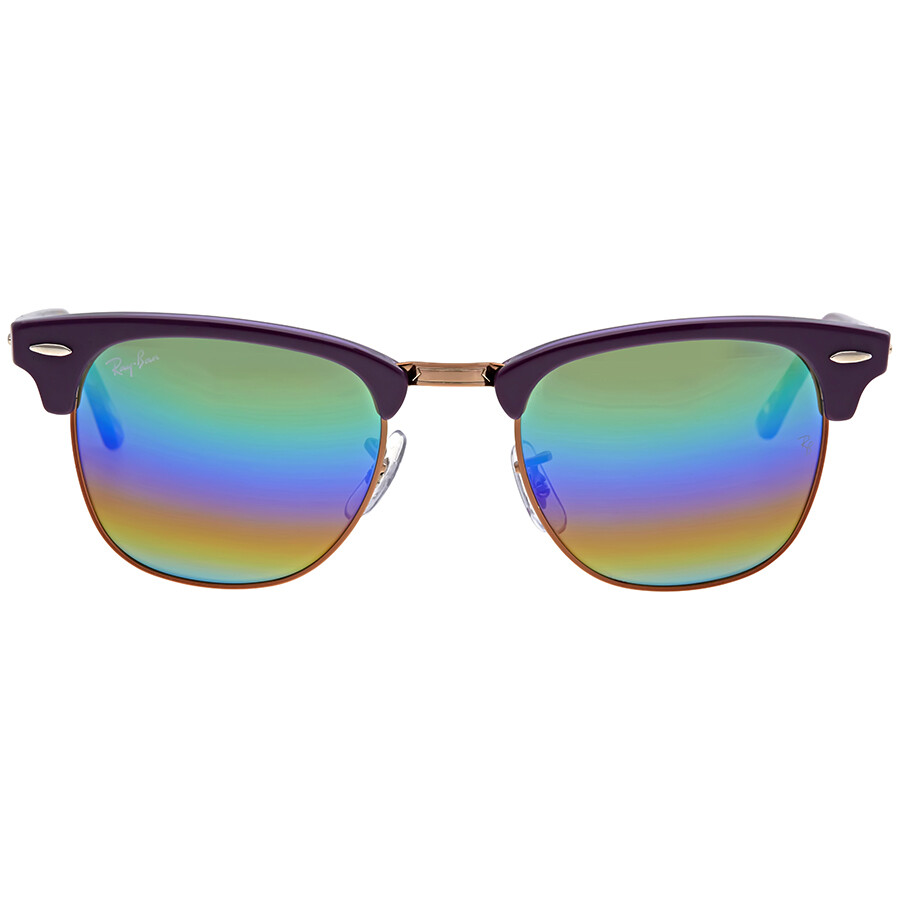 6dcd9097c0 Ray Ban Clubmaster Mineral Green Rainbow Flash Men s Sunglasses RB3016  1221C3 49 ...