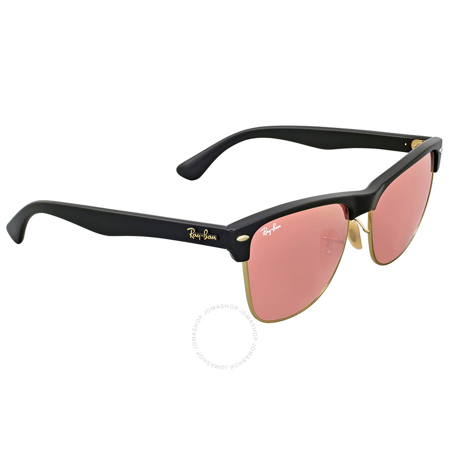 Ray Ban Clubmaster Oversize Pink Mirror Sunglasses