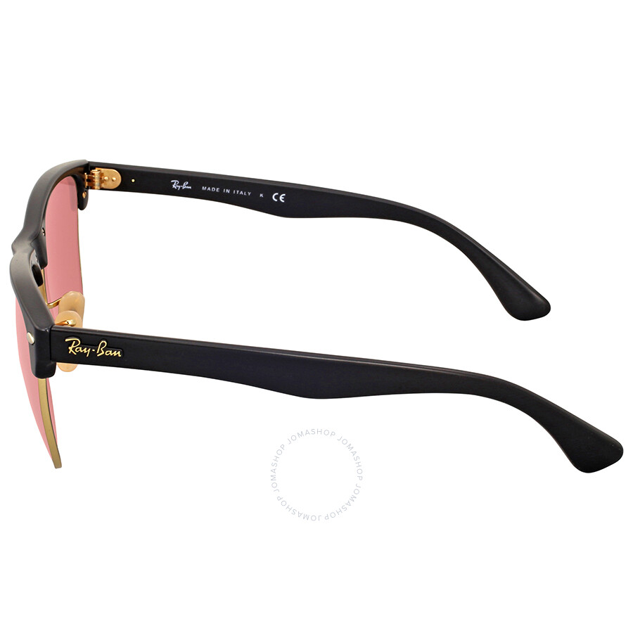 pink clubmaster sunglasses  Ray-Ban Clubmaster Oversize Pink Mirror Sunglasses - Clubmaster ...