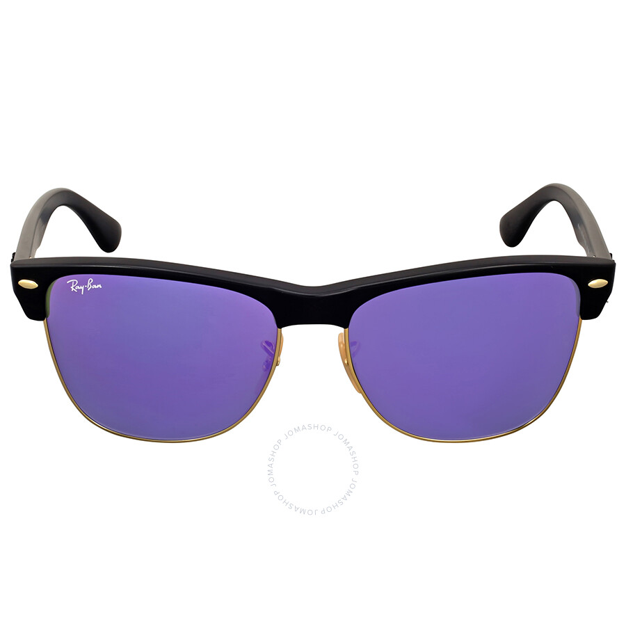 d13bad0bdce Ray-Ban Clubmaster Oversize Violet Mirror Sunglasses - Clubmaster ...