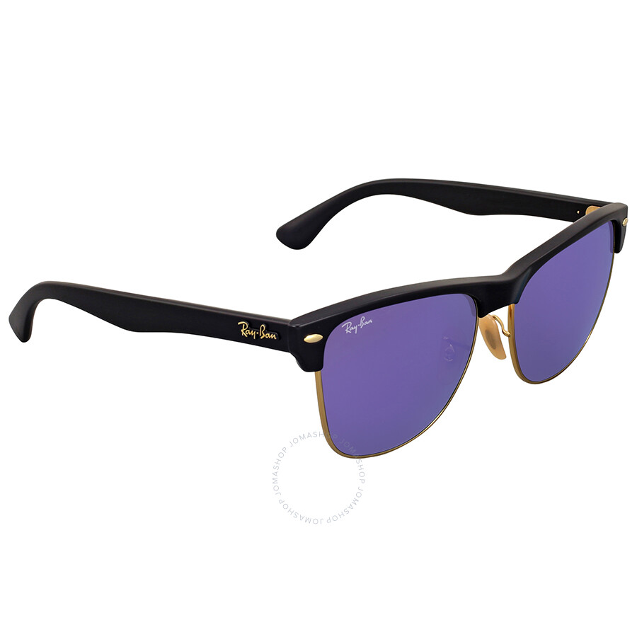 Ray Ban Clubmaster Oversize Violet Mirror Sunglasses