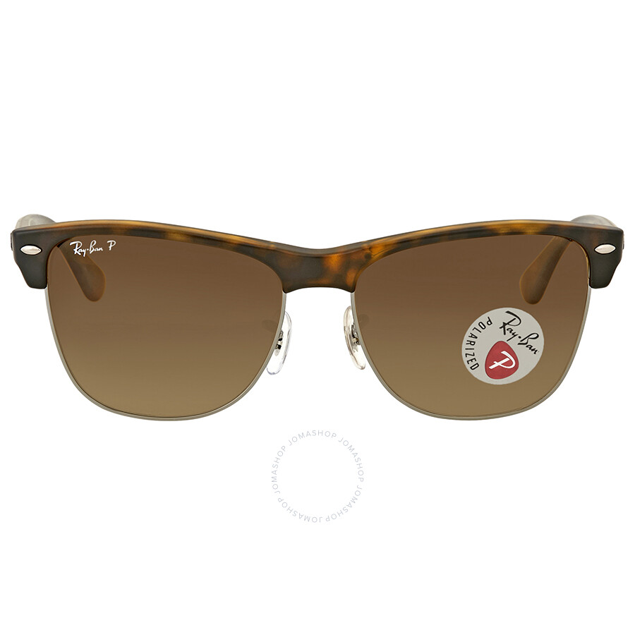 Ray Ban Clubmaster Oversized Polarized Brown Gradient Sunglasses Item No.  RB4175 878 M2 57 e4ef6b57ab