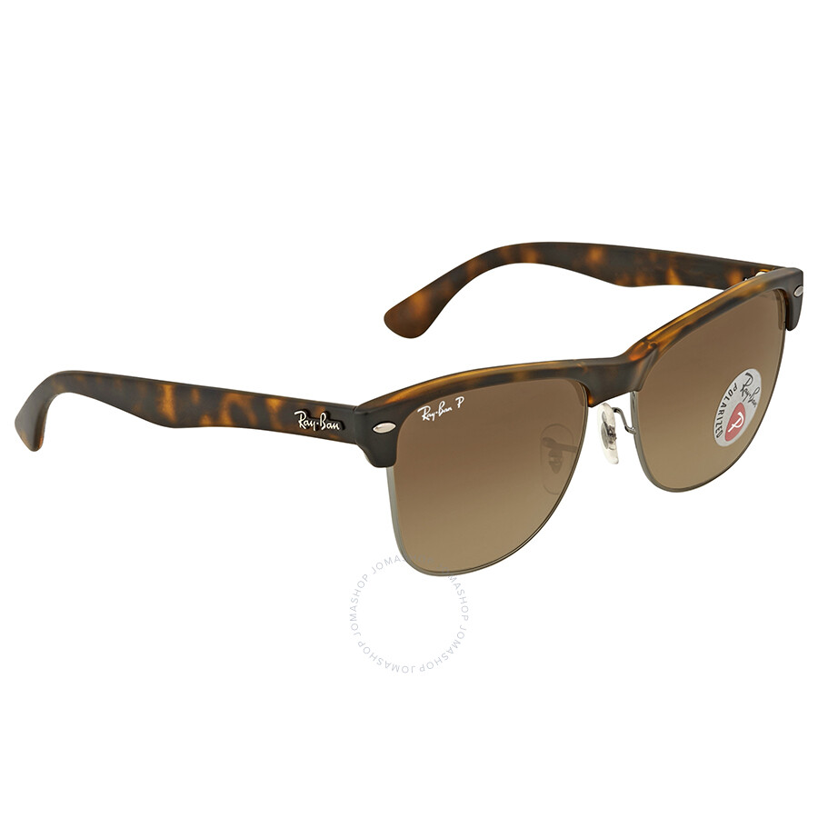 8536908e61 ... Ray Ban Clubmaster Oversized Polarized Brown Gradient Sunglasses ...