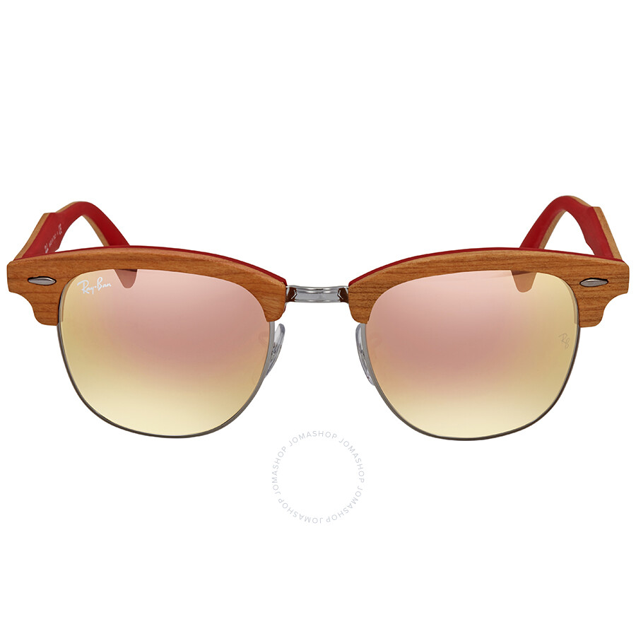 c9c02ccb8f ... Ray Ban Clubmaster Wood Copper Gradient Flash Square Sunglasses RB3016M  12197O 51 ...