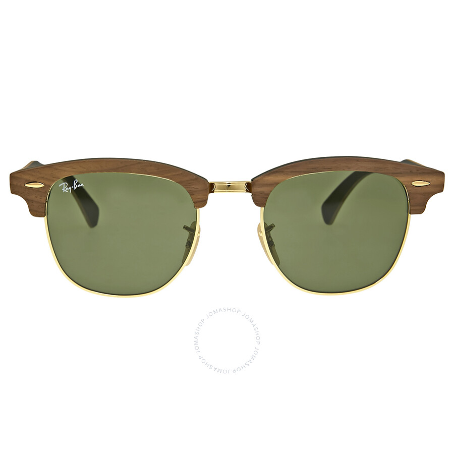 43172f923c02 Ray-Ban Clubmaster Wood Green Classic Sunglasses - Clubmaster - Ray ...