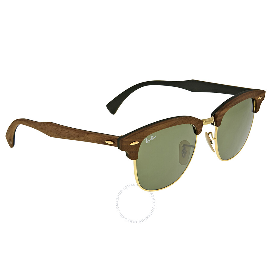 a7a2edca431 Ray-Ban Clubmaster Wood Green Classic Sunglasses - Clubmaster - Ray ...