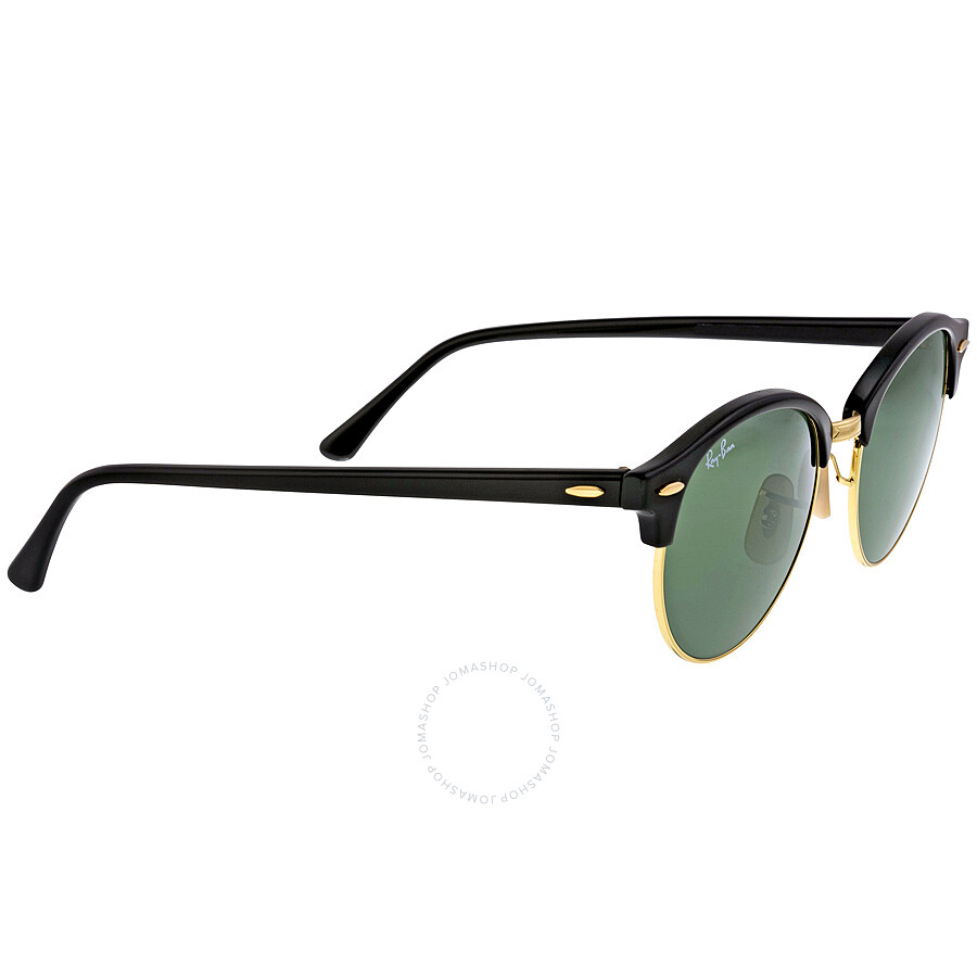 704390bae8 ... Ray-Ban Clubround Black Arista Sunglasses RB4246 901 51-19 ...