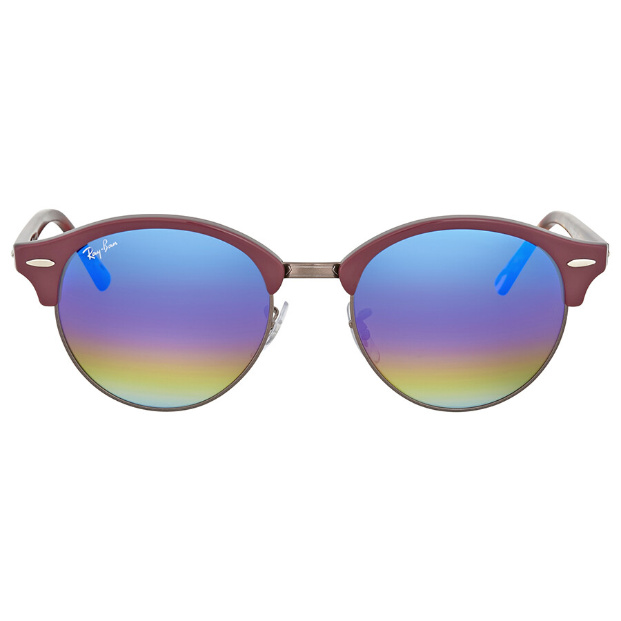 b3120a8380 Ray Ban Clubround Blue Rainbow Flash Sunglasses Item No. RB4246 1222C2 51