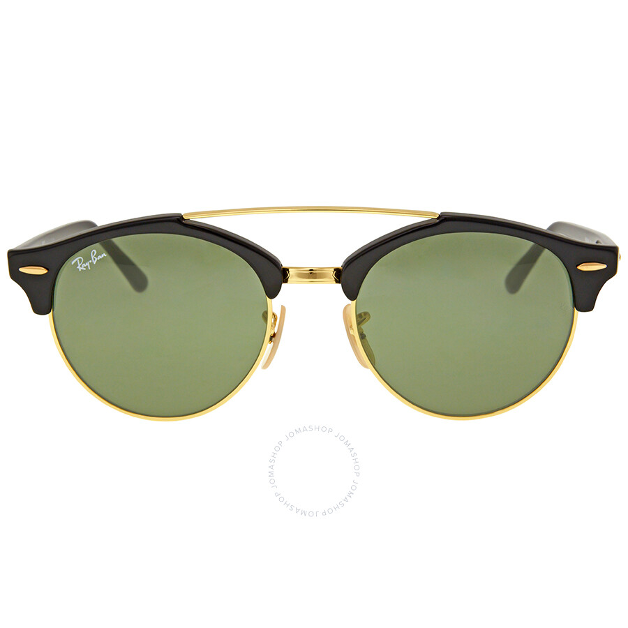 16c8168bc548c Ray Ban Clubround Double Bridge Green Classic G-15 Sunglasses Item No.  RB4346-901-51