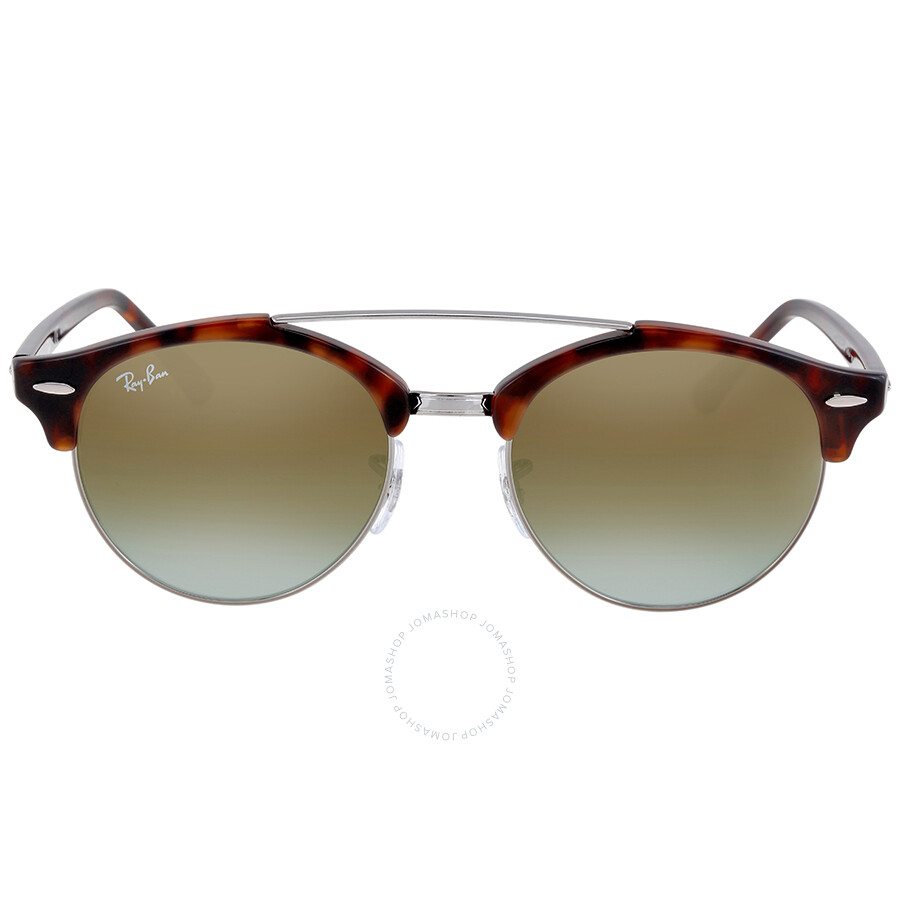 586207a10c Ray Ban Clubround Double Bridge Tortoise Sunglasses Item No. RB4346 62519J  51