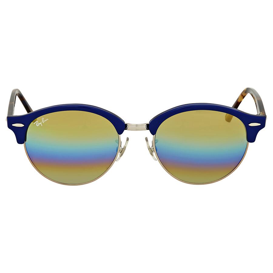 31cc6294cb Ray-Ban Clubround Gold Rainbow Flash Sunglasses - Clubround - Ray ...