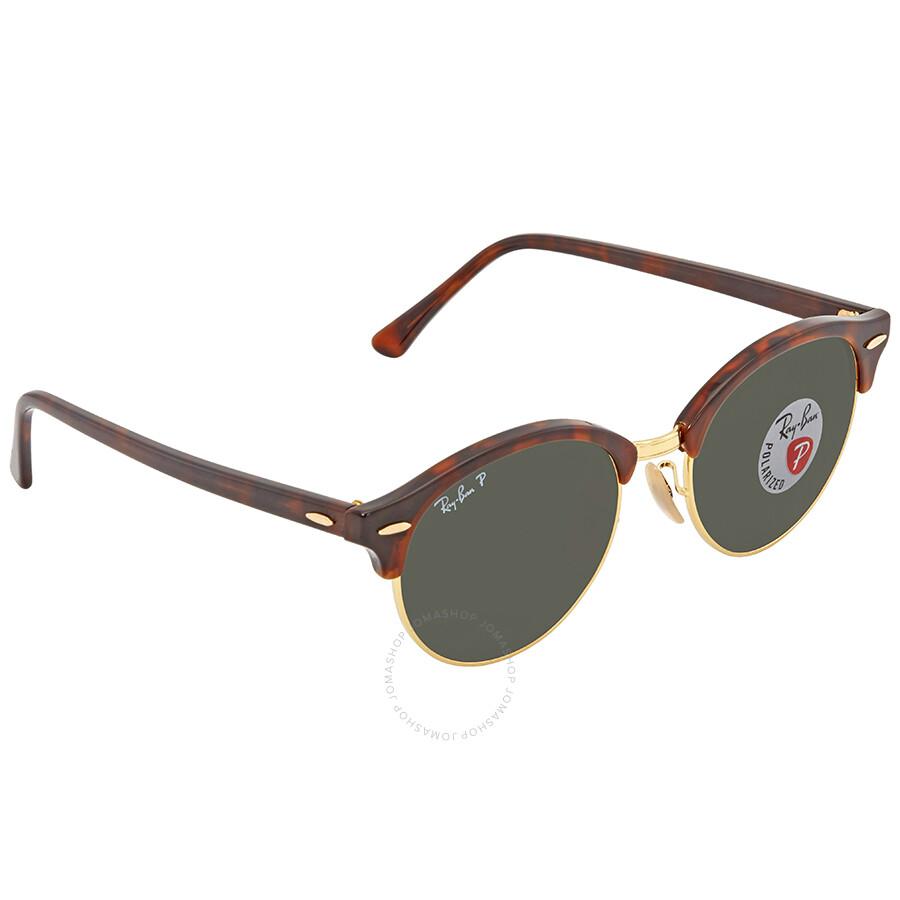 0641d4e64a Ray Ban Clubround Green Round Sunglasses RB4246 99058E 51 ...