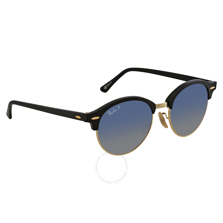 534d61ba7fd Ray Ban Clubround Polarized Blue Grey Gradient Round Sunglasses RB4246  901 78 51 ...