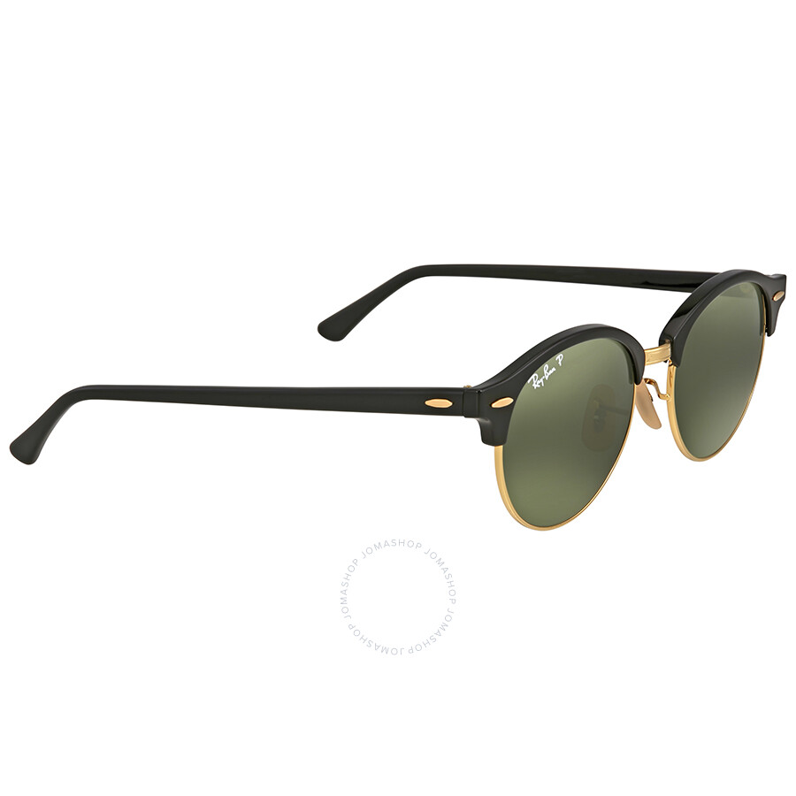 4a587668175 ... Ray Ban Clubround Polarized Green Classic G-15 Sunglasses RB4246 901 58  51 ...