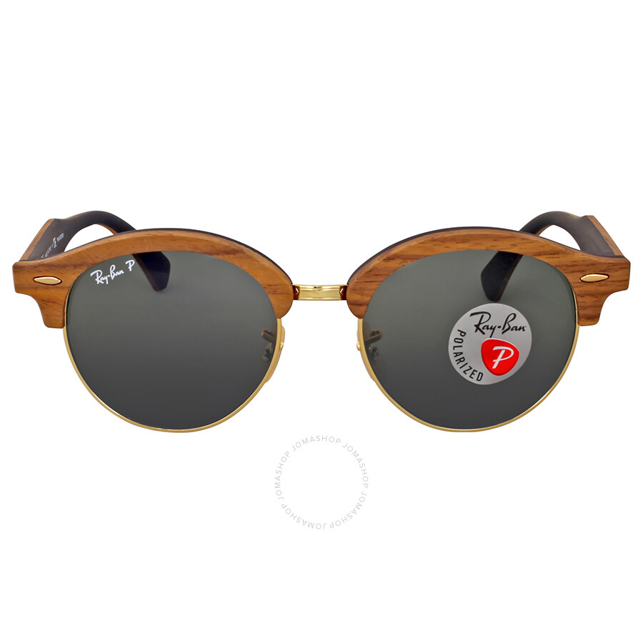 7de08b5610 Ray Ban Clubround Polarized Wood Sunglasses Item No. RB4246M 118158 51