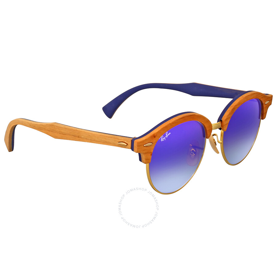 daea45007f Ray Ban Clubround Wood Blue Gradient Flash Sunglasses - Clubround ...