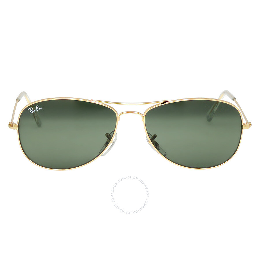 9acc350946808 Ray-Ban Cockpit 56 mm Sunglasses - Gold Green Classic G-15 - Ray-Ban ...