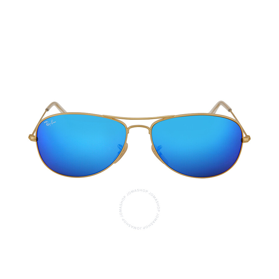 ray ban aviator black frame blue lens  Ray-Ban Aviator Sunglasses - Jomashop