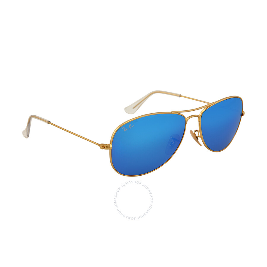 84219a44fc ... Ray Ban Cockpit Aviator Blue Mirror Flash Lenses Sunglasses RB3362-59-112-17  ...