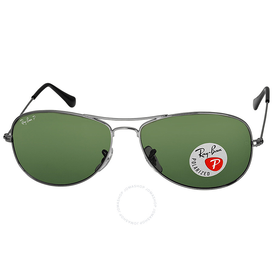 7256acb6bd Ray Ban Cockpit Gunmetal Green Polarized 59mm Sunglasses RB3362 004 58  59-14 ...