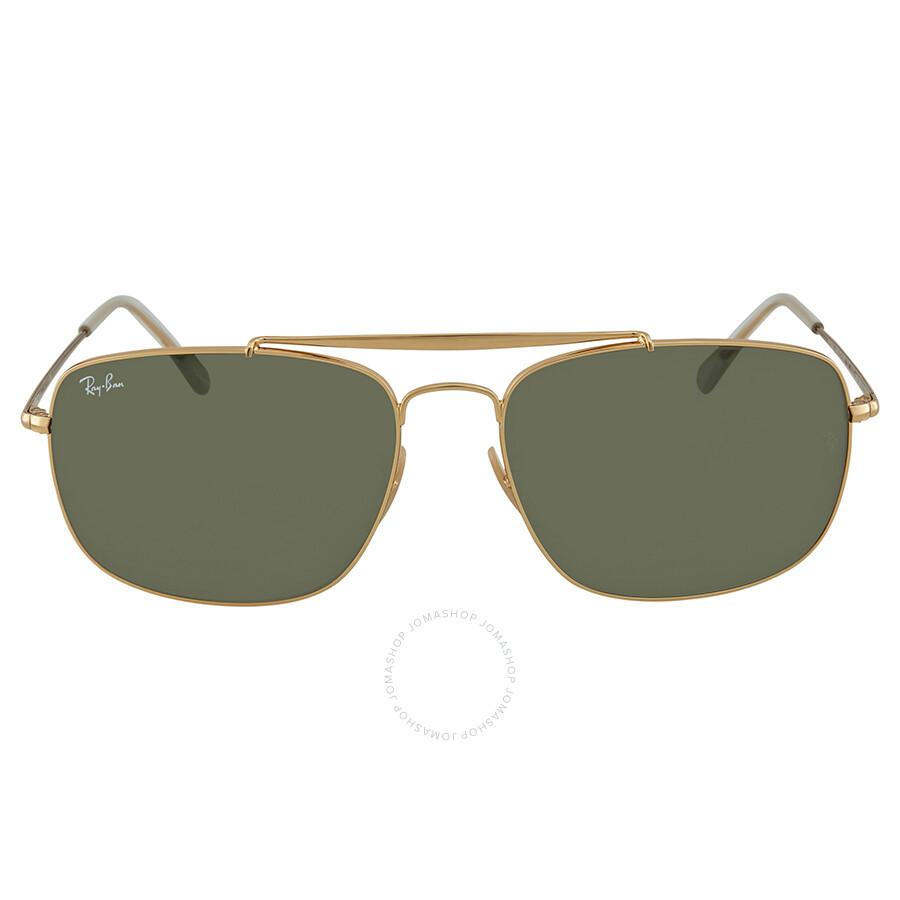 0ba279dca8845e ... Ray Ban Colonel Green Classic G-15 Rectangular Sunglasses RB3560 001 61  ...