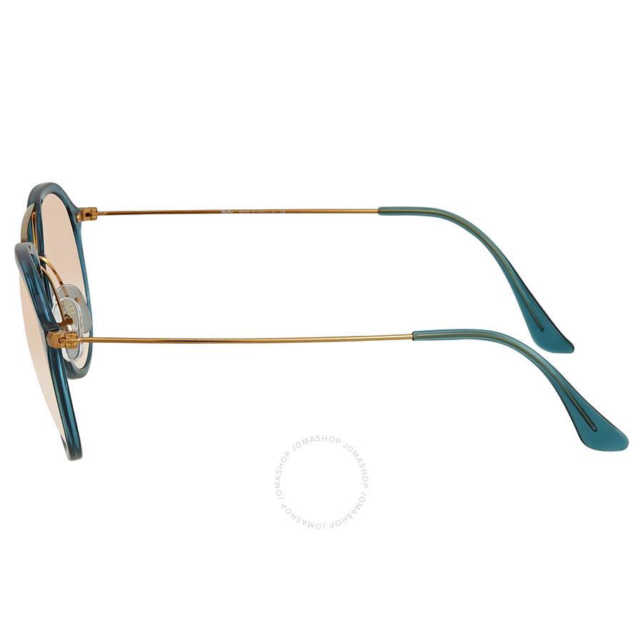 f96b018146df3 Ray Ban Copper Gradient Flash Aviator Sunglasses RB4253 62367Y 53 ...
