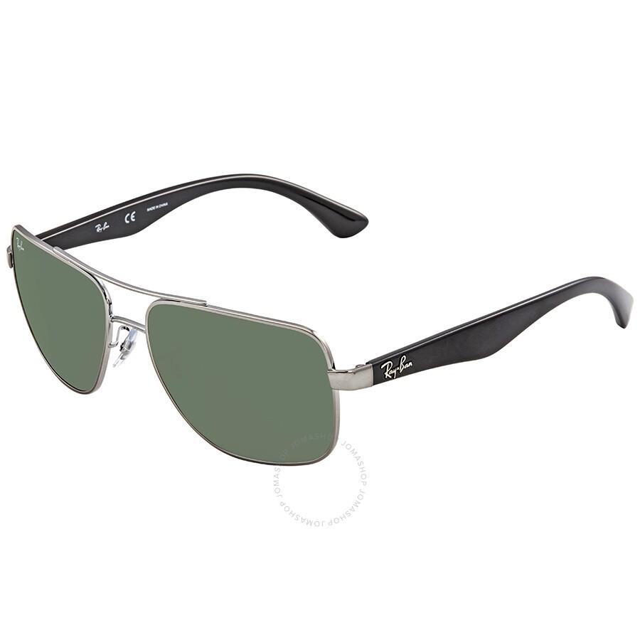 d00aa2c303 Ray Ban Dark Green Rectangular Sunglasses RB3483 004 71 60 - Ray-Ban ...