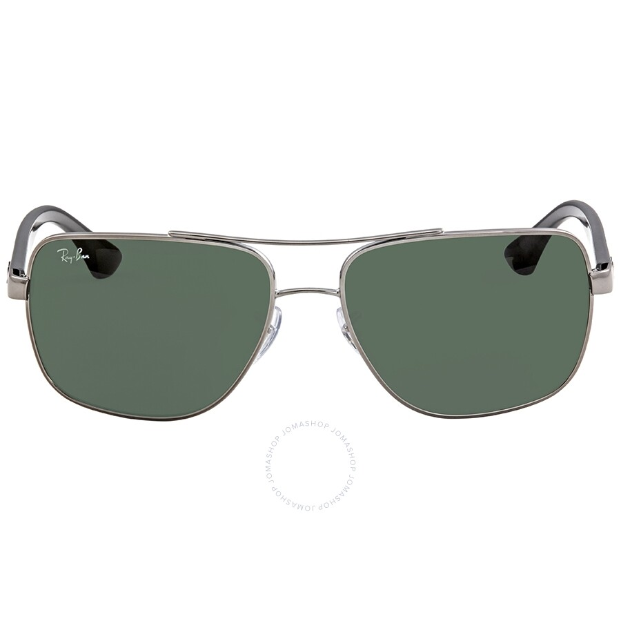 98a184930d Ray Ban Dark Green Rectangular Sunglasses RB3483 004 71 60 - Ray-Ban ...