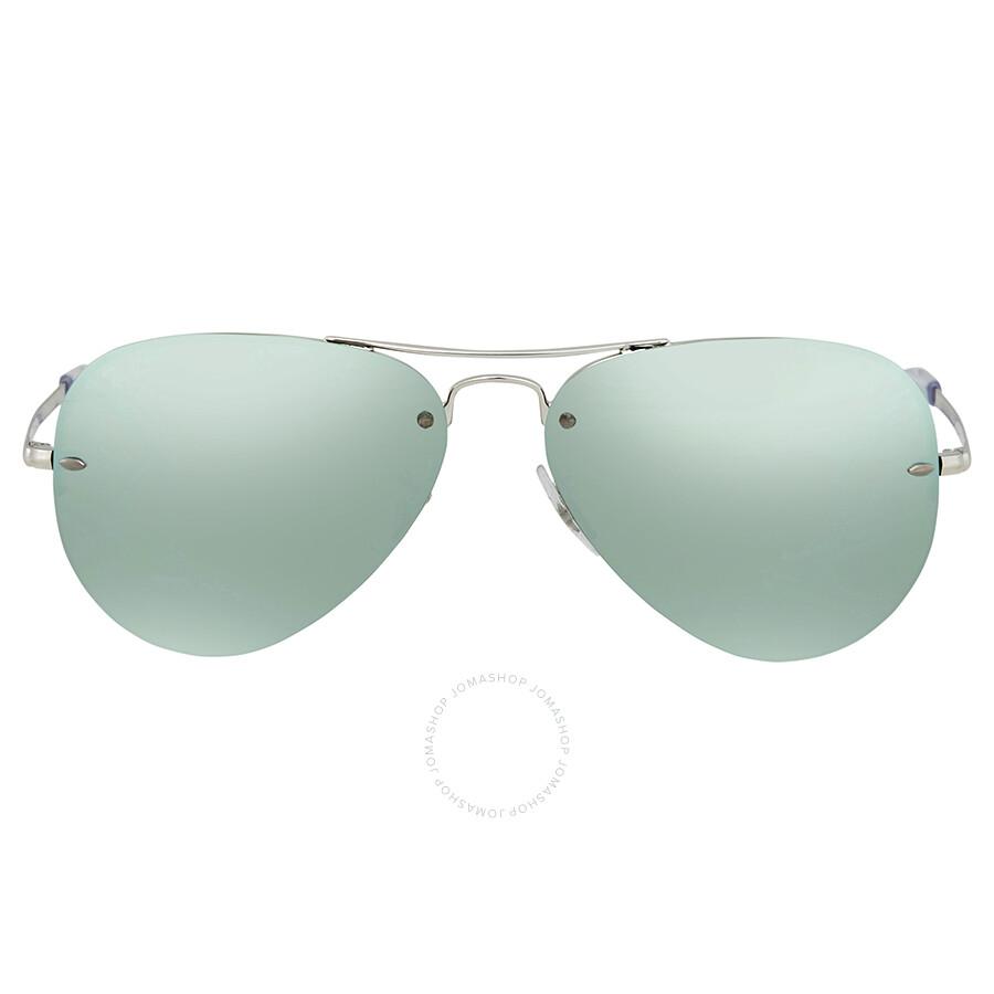 b34932154b ... Ray Ban Dark Green Silver Mirror Aviator Sunglasses RB3449 904330 59 ...