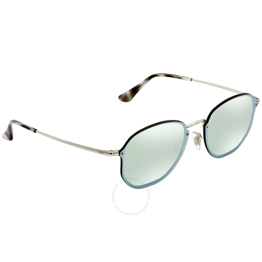 cf29d69862 Ray Ban Dark Green Silver Mirror Round Sunglasses RB3579N 003 30 58 ...
