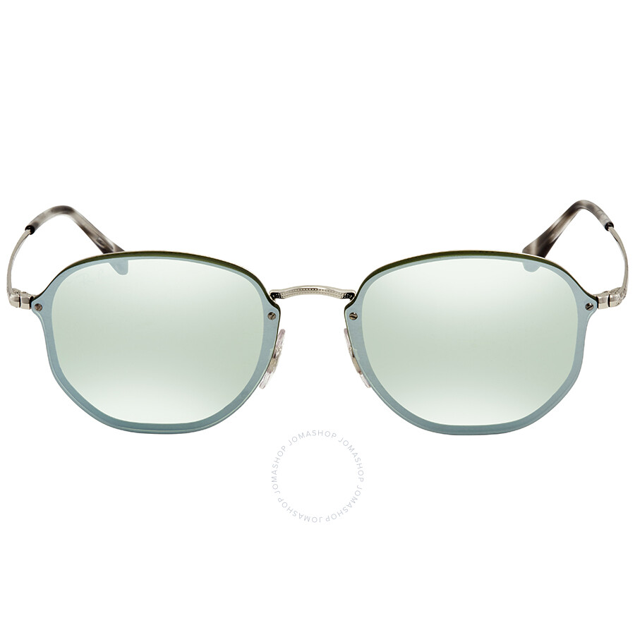 7a408bce03 ... Ray Ban Dark Green Silver Mirror Round Sunglasses RB3579N 003 30 58 ...
