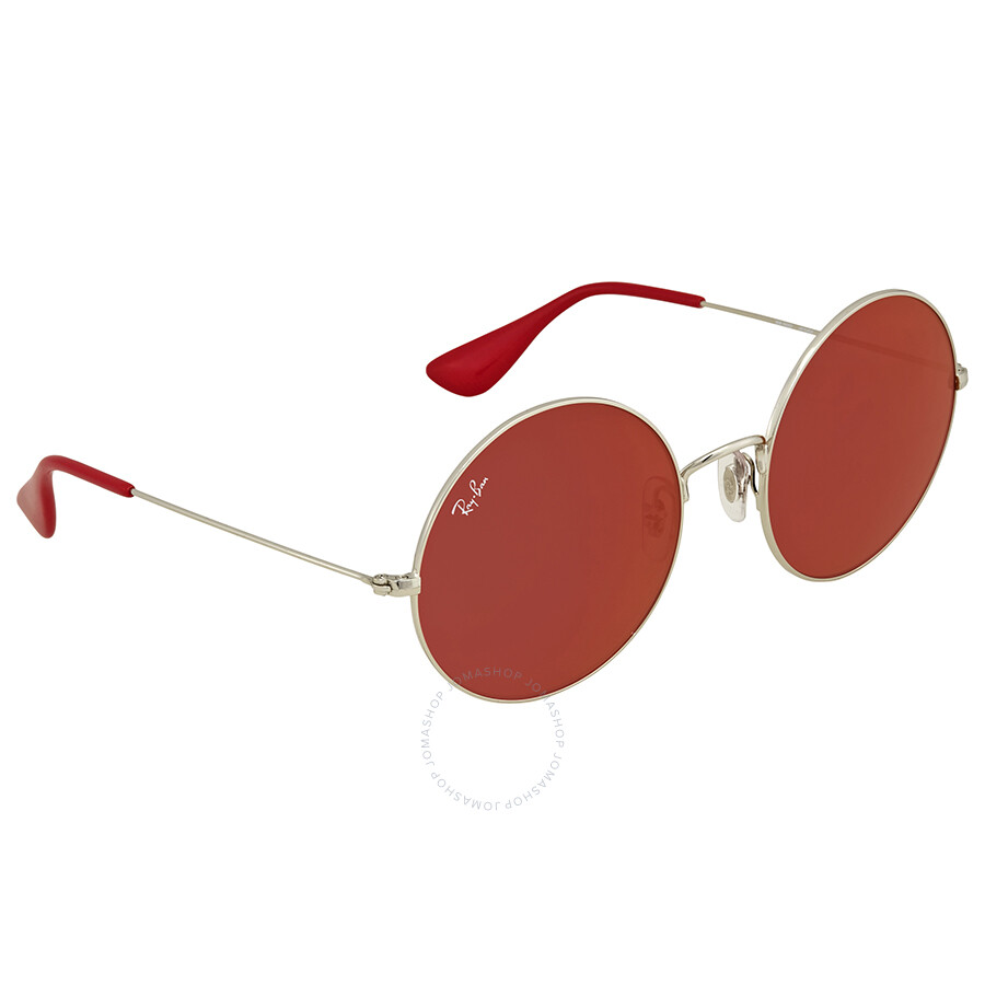 f838c583be Ray Ban Dark Red Classic Round Ladies Sunglasses RB3592 003 D0 55 ...