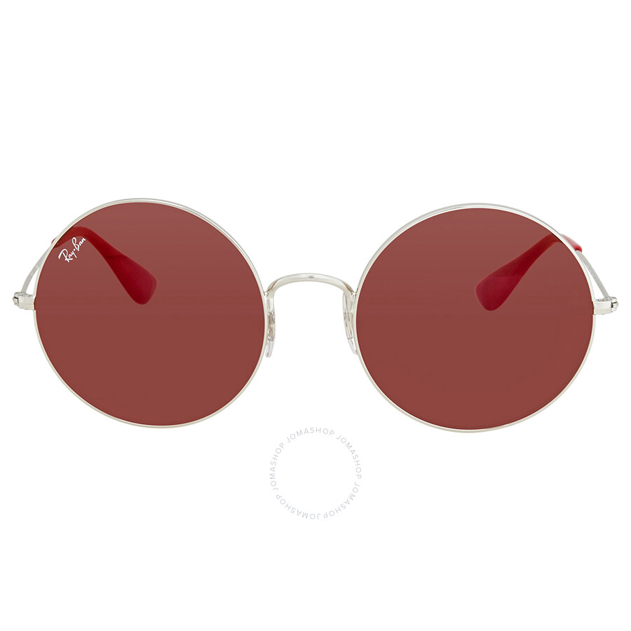 eab9a3a211d ... Ray Ban Dark Red Classic Round Ladies Sunglasses RB3592 003 D0 55 ...