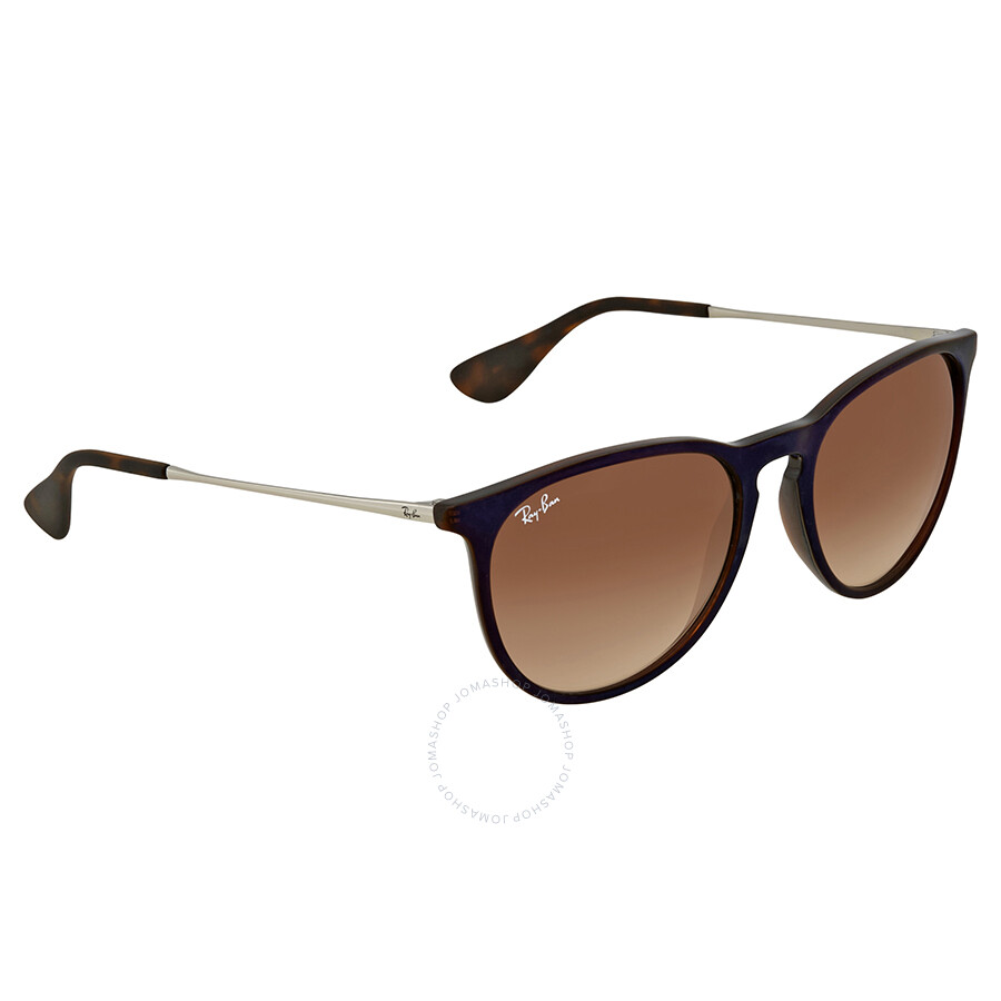 f2808691090f5 Ray Ban Erika Classic Brown Gradient Round Sunglasses RB4171 631513 54 ...