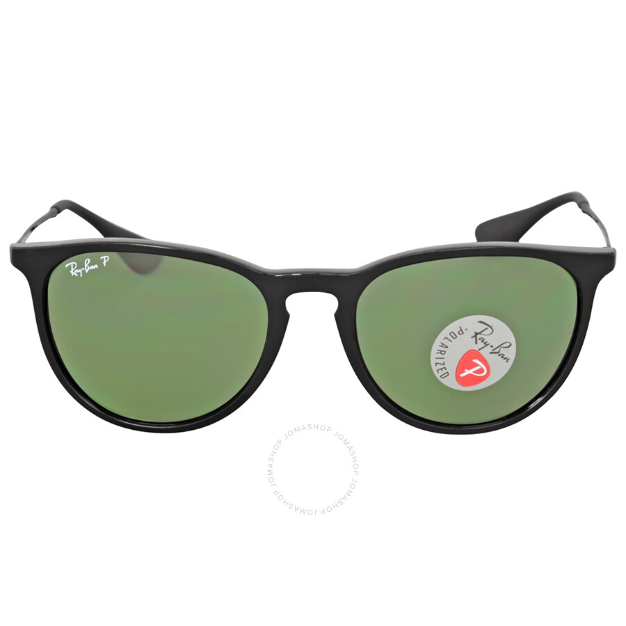 Ray Ban Erika Classic Polarized Green Classic G-15 Sunglasses RB4171 ...