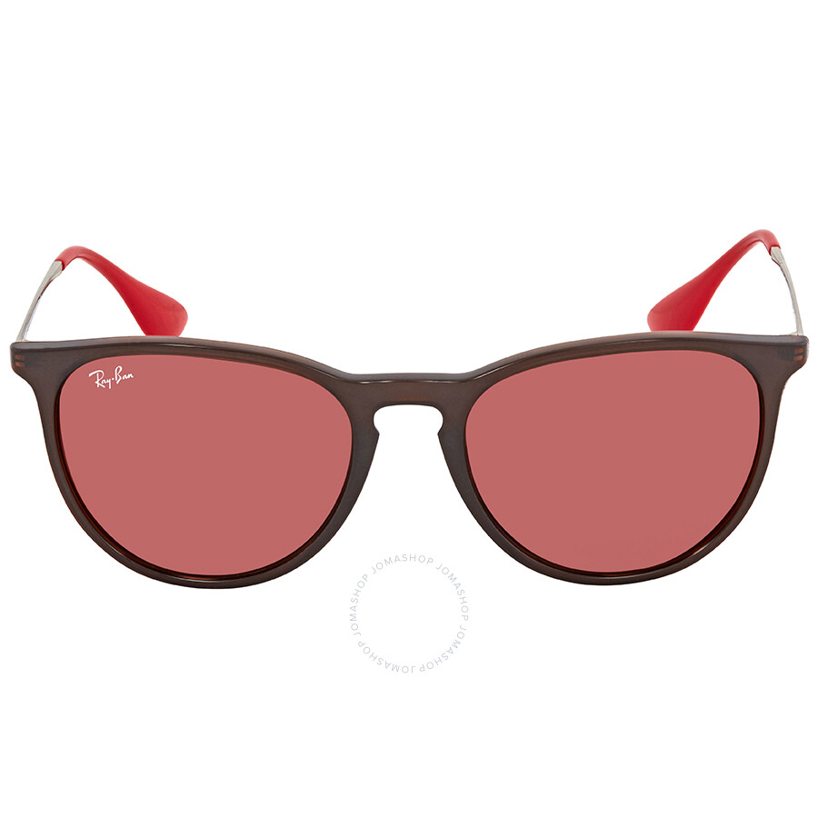6c62574fc ... Ray Ban Erika Color Mix Dark Violet Mirror Red Round Unisex Sunglasses  RB4171 6339D0 54 ...