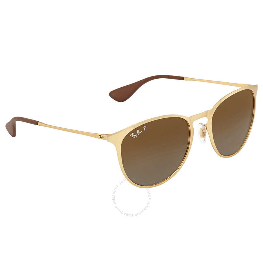 3c6a9d1282 Ray Ban Erika Polarized Brown Gradient Round Sunglasses RB3539 112 T5 54 ...
