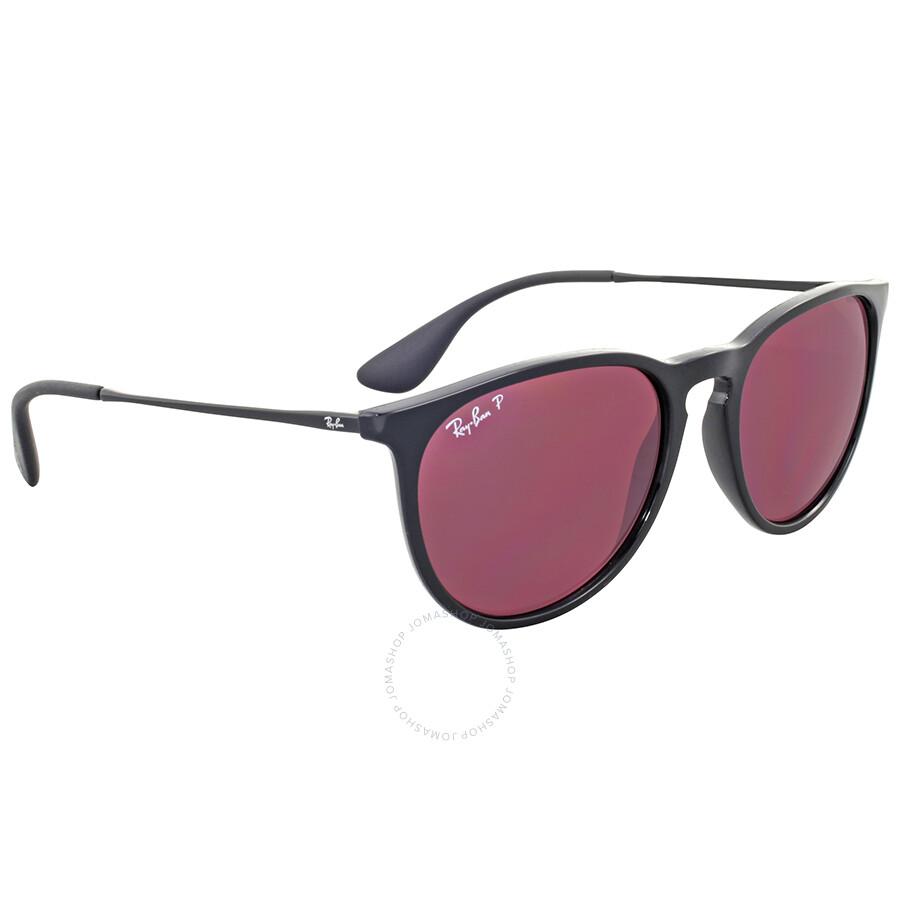 Ray ban erika polarized violet mirror sunglasses erika for Mirror sunglasses