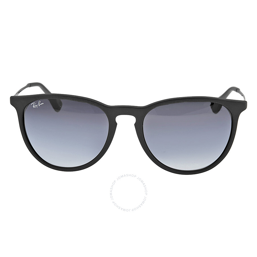 ray ban sunglasses 5thl  Ray Ban Ray-Ban Erika Rubberized Black Frame -Gray Gradient Lens 54mm Round  Ladies Sunglasses RB4171-6228G-54