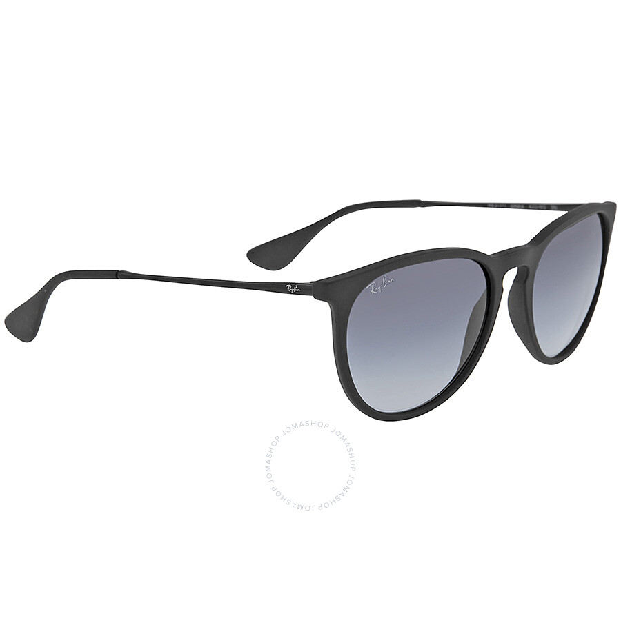 f91b5d087b ... Ray-Ban Erika Rubberized Black Frame -Gray Gradient Lens 54mm Round  Ladies Sunglasses RB4171 ...
