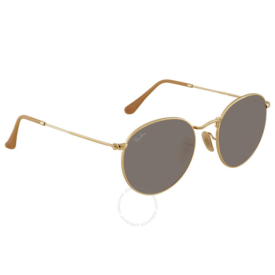 d4b980e81b2 Ray Ban Evolve Grey Photocromic Round Sunglasses RB3447 9064V8 53 ...