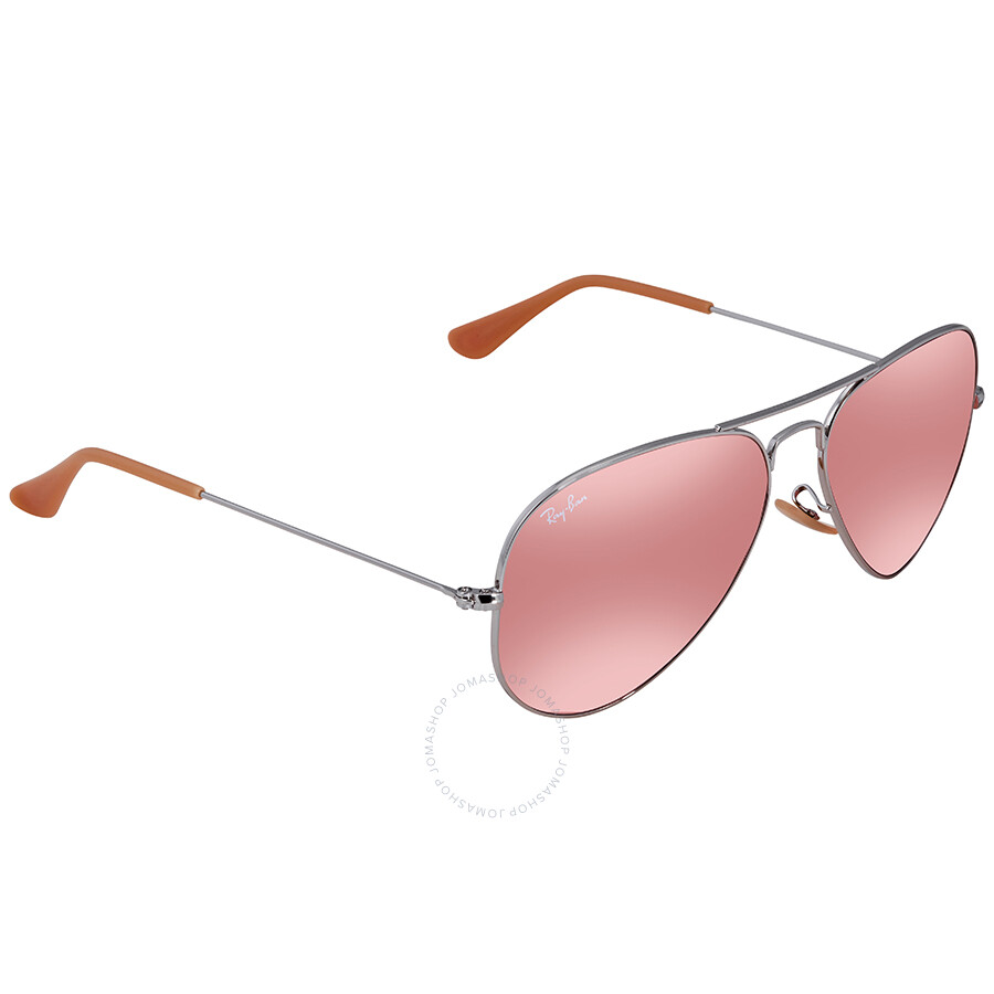 7dc5f77d871 Ray Ban Evolve Pink Photocromic Aviator Sunglasses RB3025 9065V7 58 ...