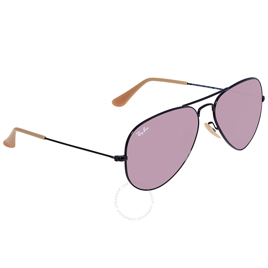 c97ca7421d Ray Ban Evolve Purple Photocromic Aviator Sunglasses RB3025 9066Z0 58 ...