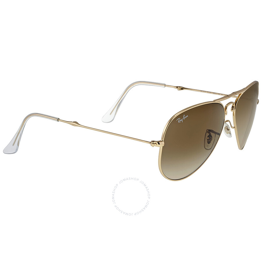 c57a1d23f213 Ray Ban Folding Aviator Arista Brown 58mm Sunglasses RB3479 001 51 58-17