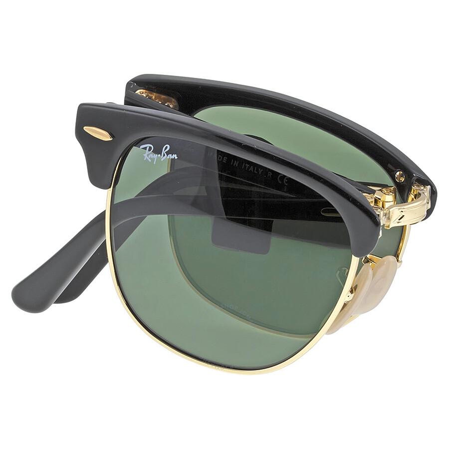 0d40ca4c01 Ray Ban Folding Clubmaster Black - Green 51mm Sunglasses RB2176-901-51-21