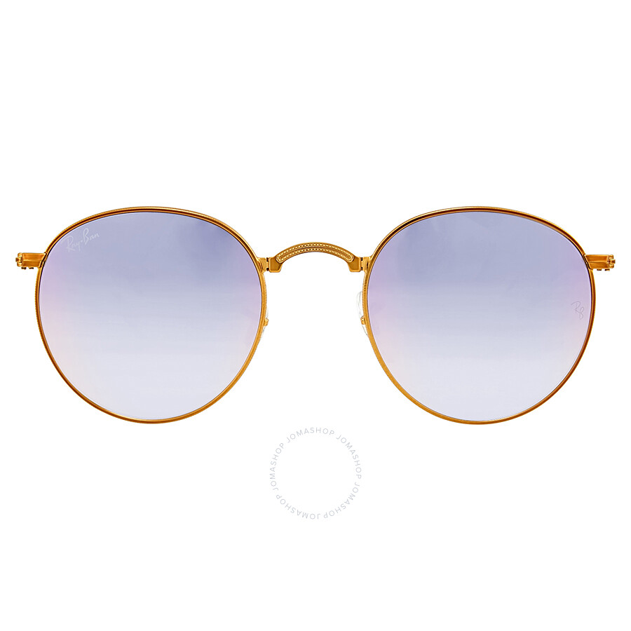 9e76db3566 Ray Ban Folding Round Lilac Gradient Flash Sunglasses RB3532-198 7X-47 ...