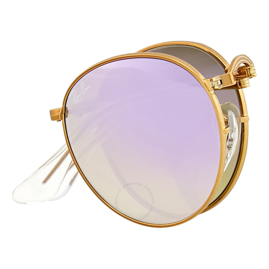 66102f4089 ... Ray Ban Folding Round Lilac Gradient Flash Sunglasses RB3532-198 7X-47