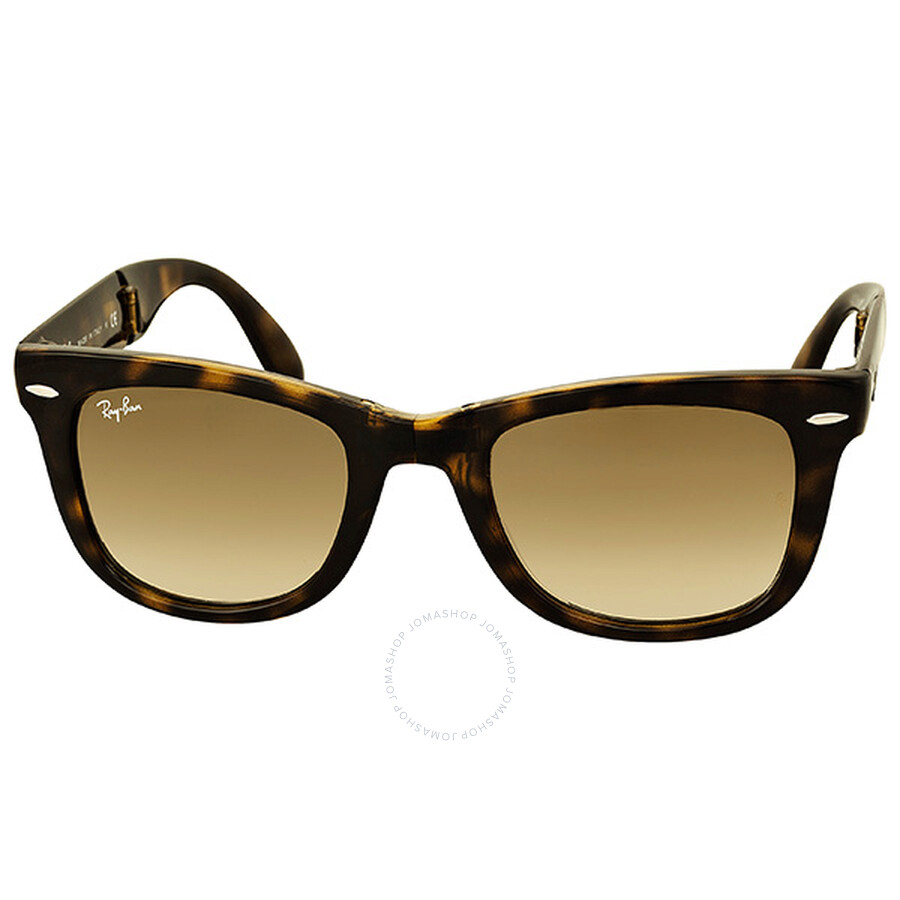 5961b1804b01a Ray-Ban Folding Wayfarer Havana Frame Brown Gradient Lens Sunglasses  RB4105-71051 ...
